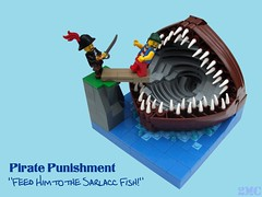 """Feed Him to the Sarlacc Fish!"" (2 Much Caffeine) Tags: lego pirate vignette moc sarlacc bigassfish bignette"