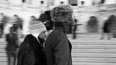 Cold War (EspressoTime) Tags: dc capitol candid street humanfactor nah art photo photography photograph nathanharrison washingtondc washington location travel espressotime canon image bnw black white bw people noiretblanc noir blackandwhite mono photographer usa us america capital