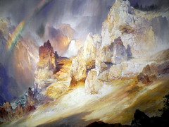 Thomas Moran - Rainbow over the Grand Canyon of the Yellowstone, 1900 at Smithsonian American Art Museum Washington DC (mbell1975) Tags: art by museum painting landscape smithsonian dc washington rainbow gallery museu thomas over grand canyon muse musee m american yellowstone museo moran muzeum mze museumuseum