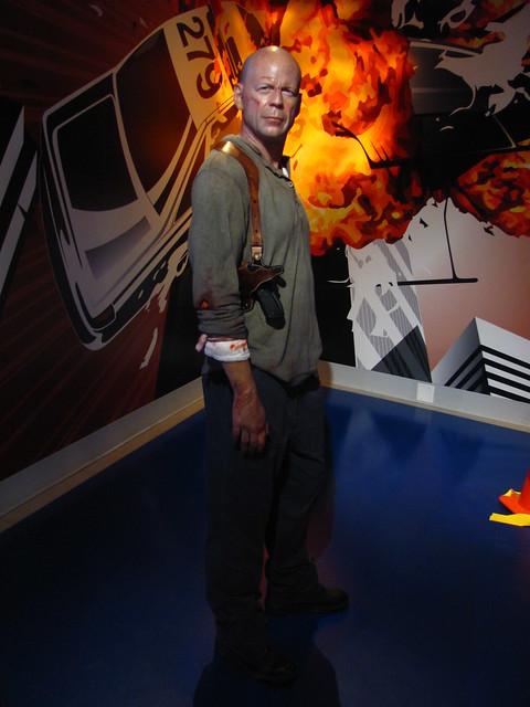 Bruce Willis/John McClane figure at Madame Tussauds Hollywood by Loren Javier