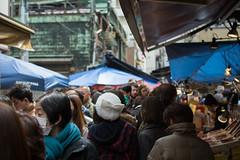 Tsukiji Crowd (Michael.Nutt1) Tags: nikon d7100 japan tsukiji fish market crowd busy tokyo bustle stores