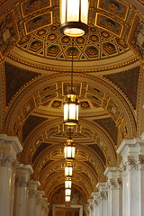 Ceiling of lobby in Library of Congress