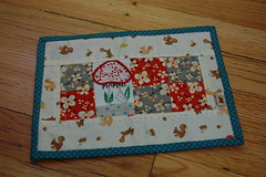 Finished Mug Rug Front (Tiny House) Tags: