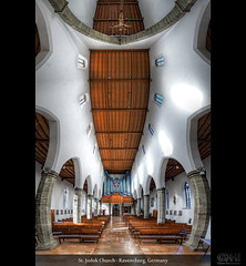 St. Jodok Church - Ravensburg, Germany (HDR Vertorama) (farbspiel) Tags: panorama church photoshop germany logo geotagged religious temple photography nikon worship catholic religion belief sigma wideangle holy blended handheld stitching photomerge spiritual 1020 stitched dri deu hdr highdynamicrange watermark hdri blend ravensburg superwideangle 10mm postprocessing badenwrttemberg dynamicrangeincrease ultrawideangle d90 photomatix digitalblending wasserzeichen tonemapped tonemapping watermarking detailenhancer vertorama stjodok topazadjust topazdenoise klausherrmann topazsoftware sigma1020mmf35exdchsm topazphotoshopbundle geo:lat=4778325616 geo:lon=961138487