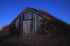 Ljósaskipti (Aðalheiður Halldórsdóttir) Tags: árbæjarsafn torfbær ljósaskipti hesthús kvöldmynd verkefni02