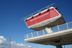 Tirana International Airport (roomman) Tags: sign tia concrete airport name mother international theresa airbus teresa welcome albania airfield 2010 tirana mothertheresa rinas tirane lati a320233