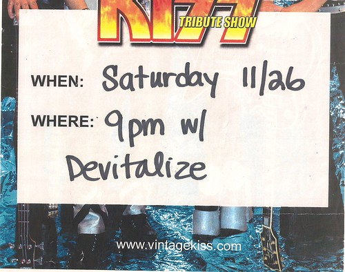 11/26/05 Vintage Kiss @ Station 4, St. Paul, MN (Flyer - Bottom)