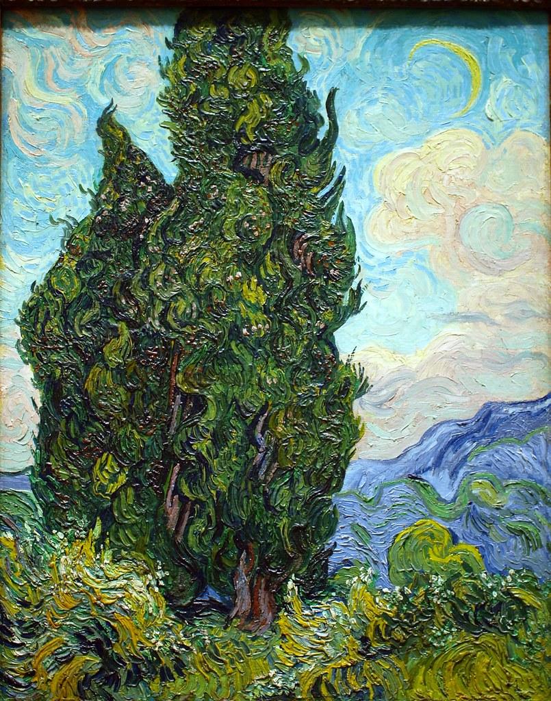 Cypresses, 1889, Vincent Van Gogh