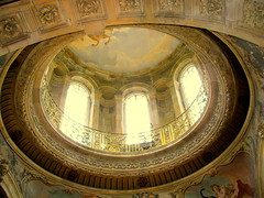 Inside the Castle Dome (Kurlylox1) Tags: york windows decorations england interior dome fresco bannister castlehoward