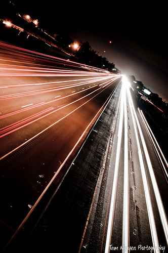 Freeway light streaks