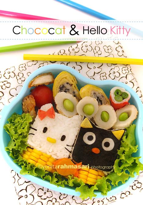 Hello Kitty & Chococat Bento
