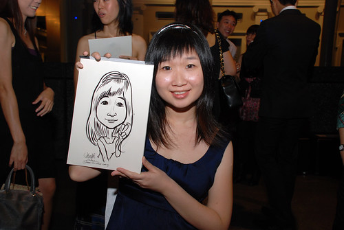 Caricature live sketching for Autism Association(Singapore)- Staff Dinner 2010 - 12