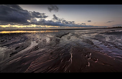 Hot and cold the pano. (Ianmoran1970) Tags: sea sky cloud beach wet landscape lights sand colours boots wind ironman windfarm gormley crosby muddyboots ianmoran ianmoran1970