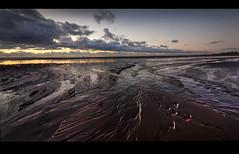 Hot and cold the pano. (Ianmoran1970) Tags: sea sky cloud beach wet landscape lights sand colours boots wind ironman windfarm gormley crosby muddyboots ianmoran ianmoran1970