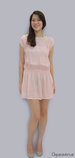 PINK CAP-SLEEVED DRESS
