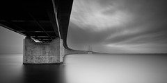 resund bridge (c e d e r) Tags: ocean longexposure bridge sunset sea sky bw panorama white seascape storm black art water clouds canon photography eos coast skne twilight europe long exposure sweden fine monochromatic minimal full jens filter le malmoe frame nd sverige fullframe scandinavia malm minimalistic malmo scania density fineartphotography ceder neutral resund black white resundsbron bridge exposure bw nd110 minimalisticphotography 5dii jensceder daytime oresund