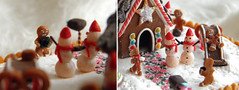 Cheese, little Snowmen! (Vesi Koleva) Tags: christmas winter food house snow home scale cookies miniature football play candy little chocolate ooak gingerbread slide mini cotton tiny icecream snowmen merrygoround truffle 112 dollhouse fakefood gingerbreadmen peppermin