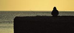 Fishing (Phil Steere) Tags: sunset sea wall sussex fishing nikon brighton phil eastsussex steere d3100 nikond3100 philsteere