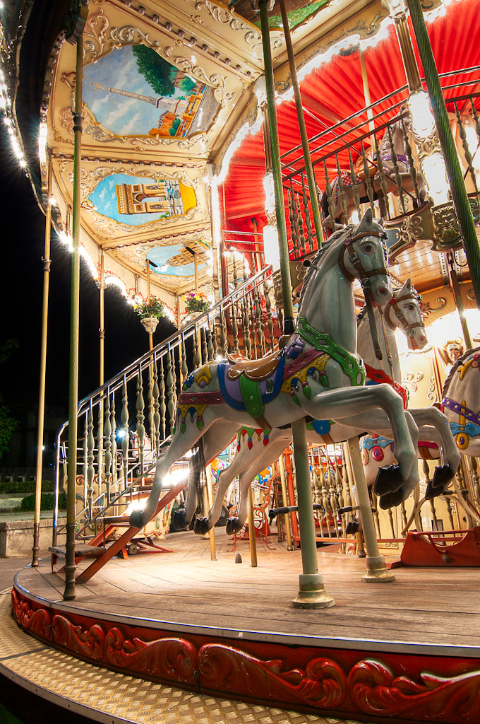 Carousel Near Eiffel Tower