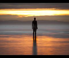 Treading the light fantastic, Crosby beach, Explore Frontpage (Ianmoran1970) Tags: sunset beach river gold golden explore frontpage mersey crobsy ianmoran ianmoran1970