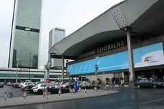 Fotografia da estação central de comboios, Varsóvia, Polónia