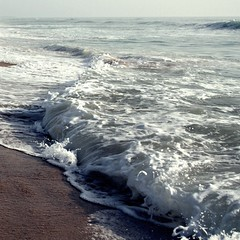 lapping waves (petitillusion) Tags: sea summer beach sand holidays waves shore atlanticocean