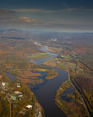 Beauty In Her Curves (bijoyKetan) Tags: fall colors beautiful creek plane river aerial piperwarrior