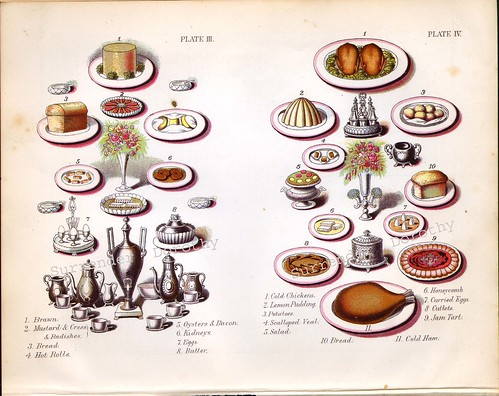 1885 Victorian Breakfast and Luncheon Menu Suggestions Lithograph To Frame