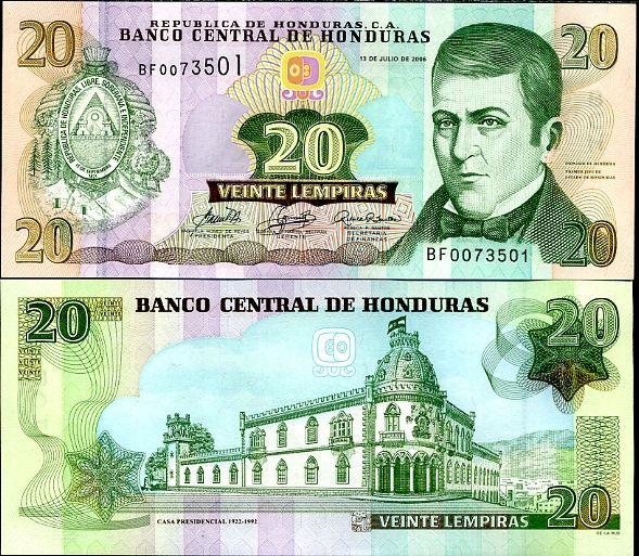 20 Lempiras Honduras 2006