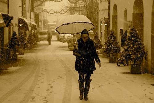 Snow in Castiglione della Pescaia (beach town in maremma) photo: Maremma fan page