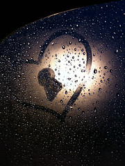 Rainy day heartache (Mayhew Photo) Tags: vegas light art window rain night creativity lights drops cool sad heart artistic lock snapshot creative lifestyle drop rainy raindrops outline absract mystic aly heartache iphone locket
