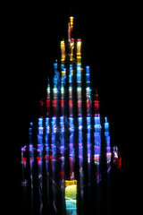 A Tree for Christmas (Reciprocity) Tags: light film colors analog 35mm colours christmastree plastic refraction analogue lensless caustics photogram diffraction lightart experimentalphotography reciprocity refractograph fujit64 s1263 bs671 lms138