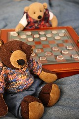A friendly game of checkers (The Craggy Moor) Tags: jane bears games beasley checkers thecraggymoor craggycorner