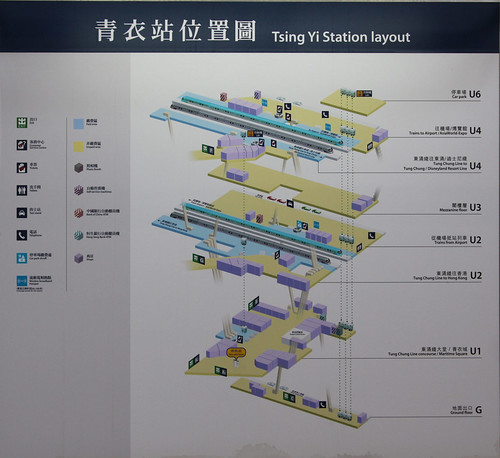Diagram showing the layout at Tsing Yi station