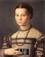 Portrait of a Young Girl With an iPhone, after Agnolo Bronzino (Mike Licht, NotionsCapital.com) Tags: art apple painting women humor cellphones iphone smartphones mannerism bronzino agnolobronzino mikelicht notionscapitalcom ilbronzino agnolodicosimo