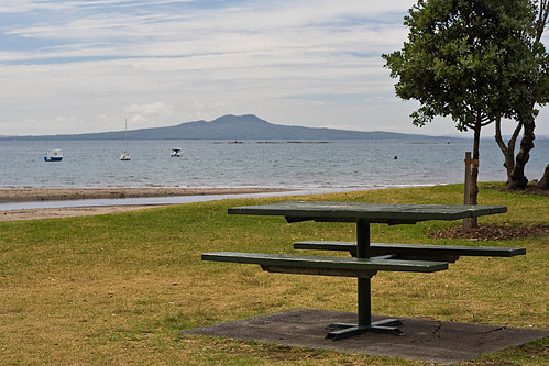Waiake beach and Rangitoto Is.