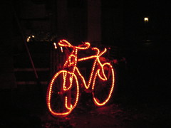 Festive bicycle