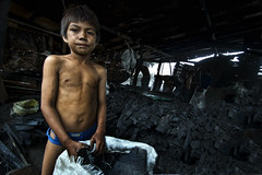 Ulingan (Charcoal Factory), Tondo - Charcoal Boy,. From Hopeless to Hopeful (Mio Cade) Tags: boy portrait mountain toxic kid factory child smoke philippines documentary environmental social dirty dirt charcoal manila smokey labour coal abuse donor ulingan