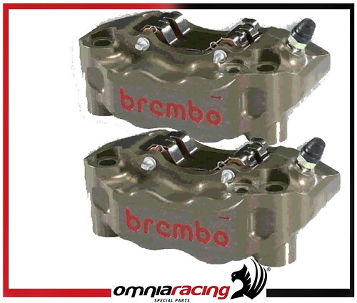 brembo radial front brake calipers p4 30 34 100mm set ebay. Black Bedroom Furniture Sets. Home Design Ideas