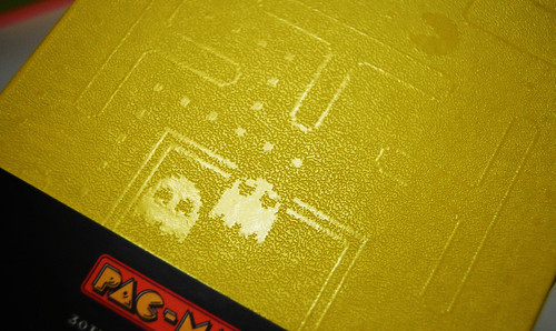 Embossed pacman notebook