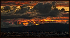 fiery sunset (Celeste M (site SO SLOW)) Tags: sunset clouds ngc longbeach wilmington signalhill palosverdespeninsula