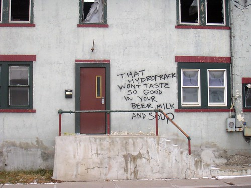 that hydrofrack wont taste so good in your beer milk and soup - graffiti