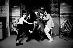 Captive Audience (SteveMcN) Tags: blackandwhite bw film me brighton theatre archive cliffhanger robindriscoll petemc