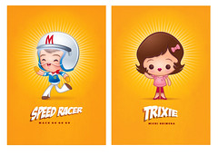 Kawaii Speed Racer & Trixie (Jerrod Maruyama) Tags: anime cute japan speed go chibi kawaii trixie racer