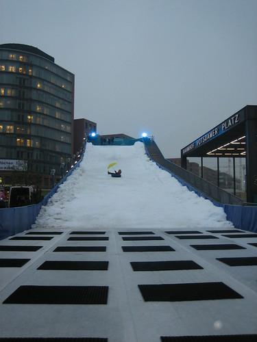 Tubing at Winterwelt, Potsdamer Platz