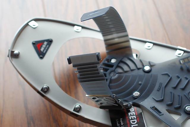 MSR Lightning Flash Snowshoe binding adjustment