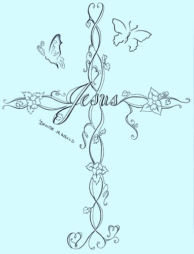 jesus cross tattoo designs. Cross Tattoo Design by Denise