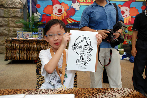 Caricature live sketching for BHP Billiton Family Day 2010- 1