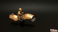 C-3PO's Speeder Bike (ZetoVince) Tags: bike greek star lego vince wars minifig speeder c3po zeto zetovince dreamdealer