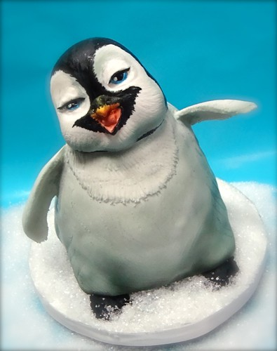 penguin miniature cake